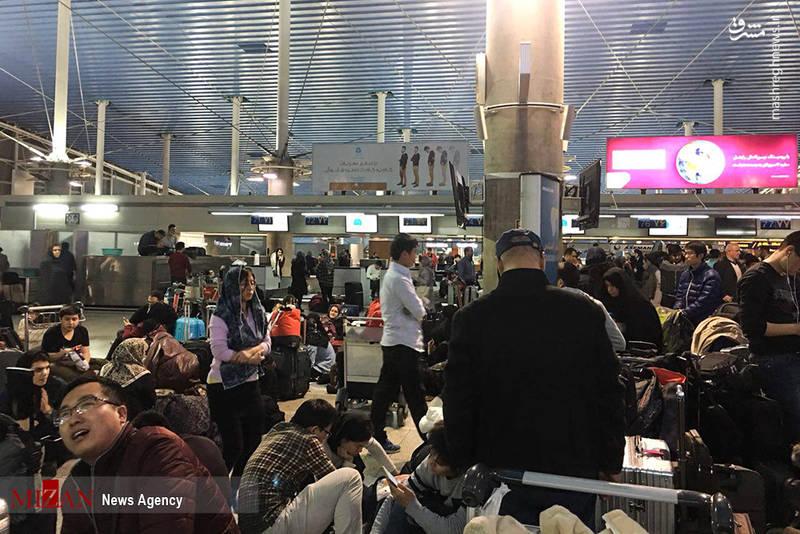 سرگردانی مسافران در فرودگاه