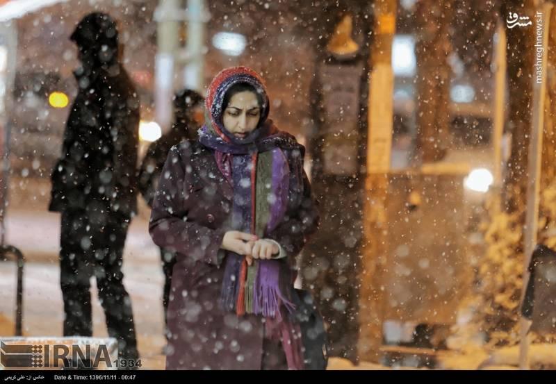 هوای سرد و برفی اراک در زمستان