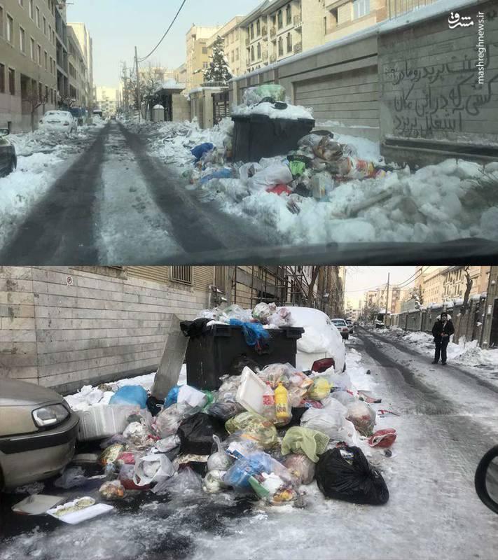 انباشت زباله ها در منطقه ۲۱ شهرداری تهران