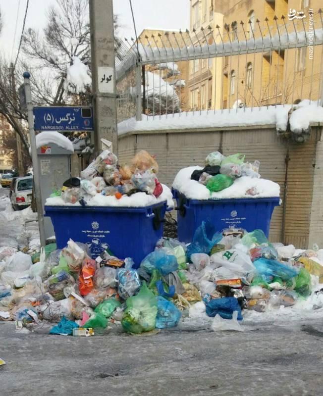 انباشت زباله ها در محله تهرانسر تهران