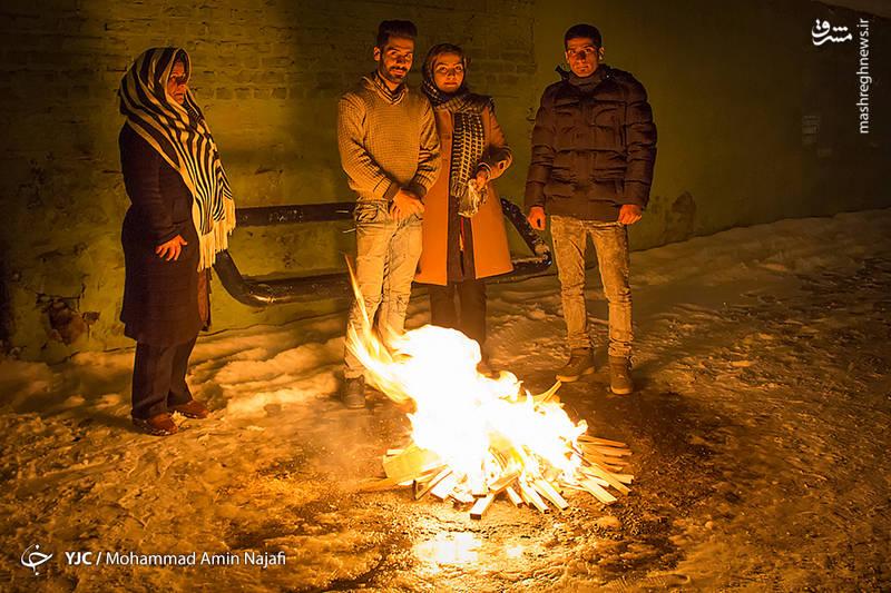 گرمای آتش در سرمای زمستان