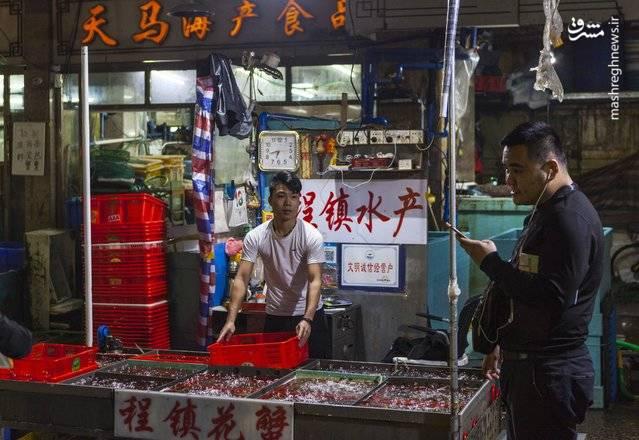 فروشندگان غذاهای دریایی گوانگژو در چین