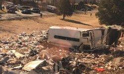 برخورد قطار حامل نمایندگان کنگره آمریکا  با یک کامیون
