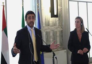 گفتگوی وزیر خارجه امارات و موگرینی در خصوص تحولات منطقه