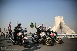 عکس/ مراسم رژه موتورسواران نیروهای مسلح