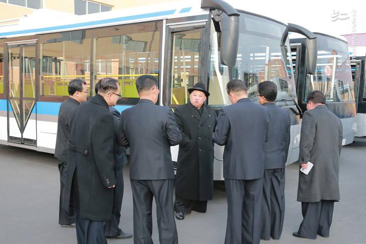 کارخانه تولید اتوبوس در کره شمالی