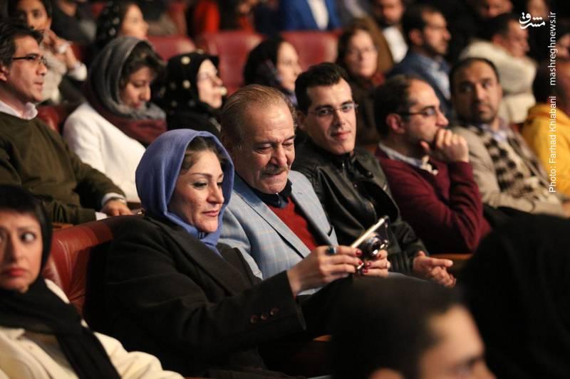 سیامک اطلسی و دخترش سحر اطلسی در جشن افتتاح جشنواره فیلم فجر