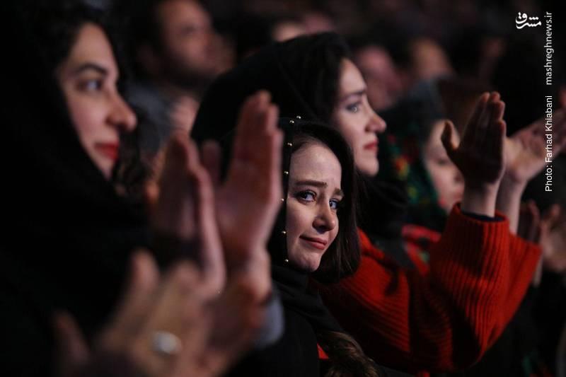 الناز حبیبی بازیگر سینما و تلویزیون در افتتاحیه جشنواره فیلم فجر