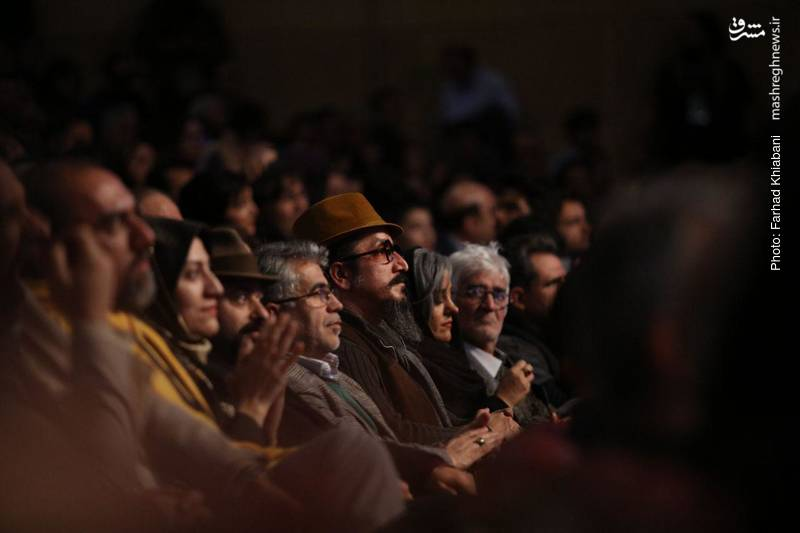 هنرمندان در مراسم افتتاحیه جشنواره فیلم فجر