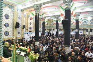 عکس/ سخنرانی قالیباف در مسجد چهارمردان قم