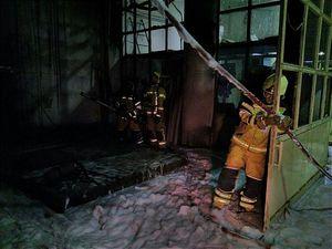 عکس/ آتشسوزی ساختمان ۹ طبقه در سعادت آباد