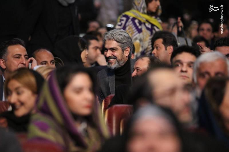 مهدی پاکدل نیز در مراسم افتتاحیه جشنواره فیلم فجر حضور داشت