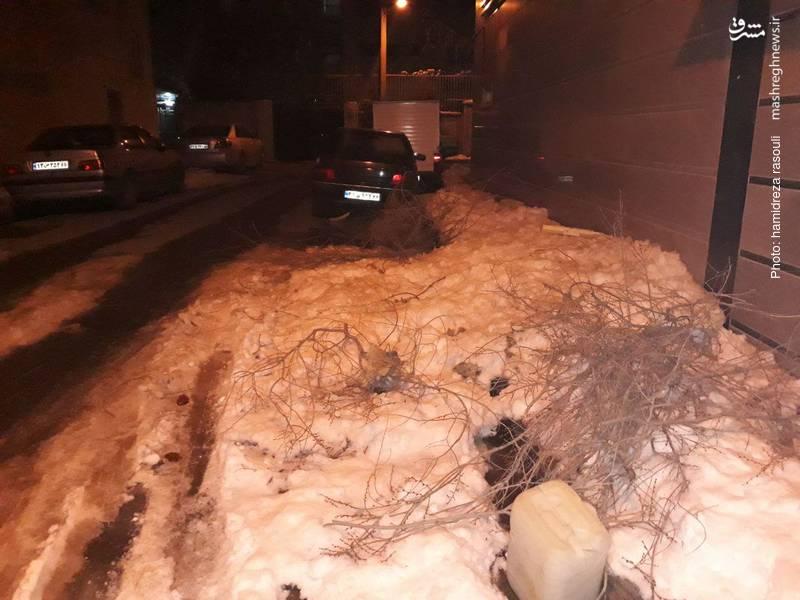 اوضاع نابسامان منطقه 9 تهران با گذشت بیش از 5 روز پس از بارش برف