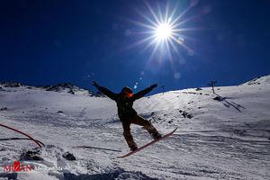 عکس/ یک روز زمستانی در پیست اسکی همدان