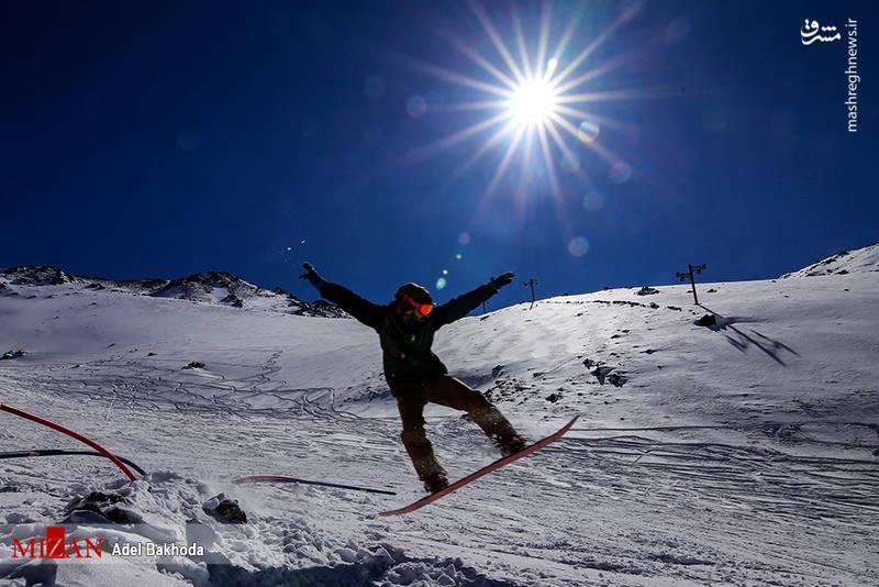 خوشحالی مردم همدان از بارش برف و بازگشایی پیست اسکی
