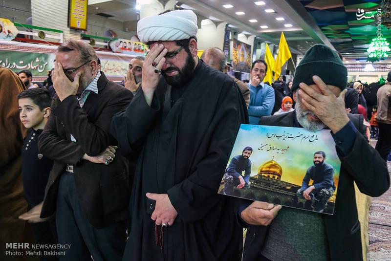 گریه های مردم در فراق شهدای مدافع حرم