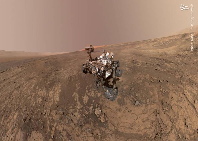 تصویری جدید از کاوشگر «کیوریوسیتی» به معنای کنجکاوی که چند ماه است در مریخ در حال نمونهبرداری و تحقیق است.
