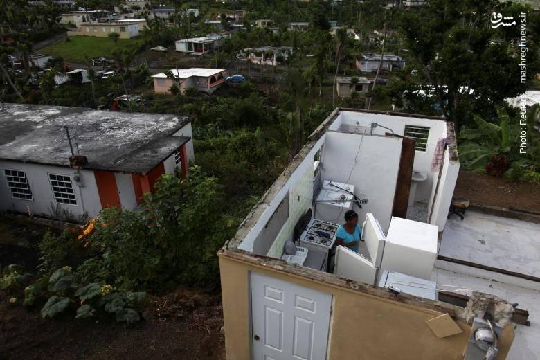 خانه بدون در و دیوار در پورتوریکو پس از گذشت بیش از چهار ماه از طوفان ماریا