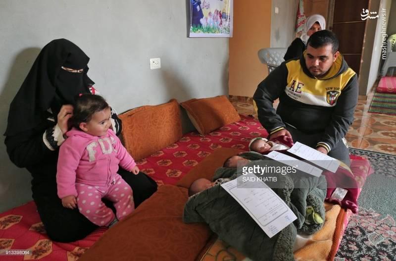 خانواده فلسطینی که از نامگداری فرزندانشان برای اعتراض به تصمیم ترامپ استفاده کردند.