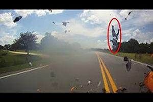 فیلم/ تصادفی که به مرگ موتورسوار منجر شد