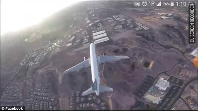 فیلم/ پرواز خطر آفرین پهپاد برای یک هواپیما