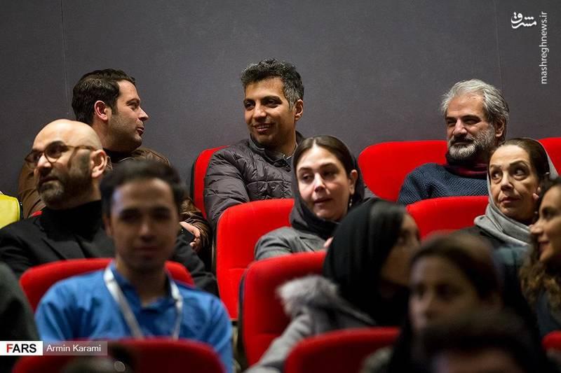 حضور فردوسی پور و پژمان بازغی در سالن سینما ملت پردیس