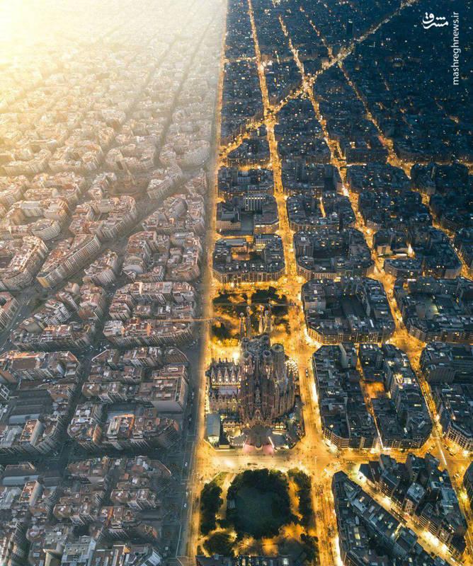بارسلون اسپانیا در شب  و روز