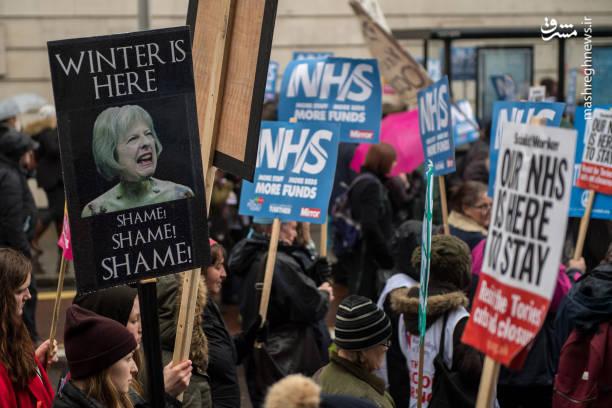 این راهپیمایی بزرگ در شهر لندن و در نزدیکی مقر پارلمان برگزار کردند