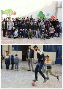 عکس/ شایان مصلح در مدرسه پا به توپ شد