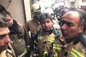 فیلم/ صحبت های رئیس آتش نشانی با آتشنشان ها