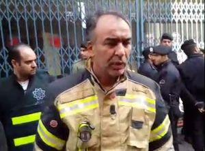 فیلم/ توضیح رئیس آتش نشانی درباره اطفای حریق ساختمان وزارت نیرو
