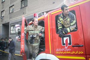 عکس/ عملیات اطفاء حریق در ساختمان وزارت نیرو