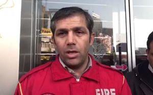 فیلم/ نفوذ آتش نشانها به طبقه منفی چهار