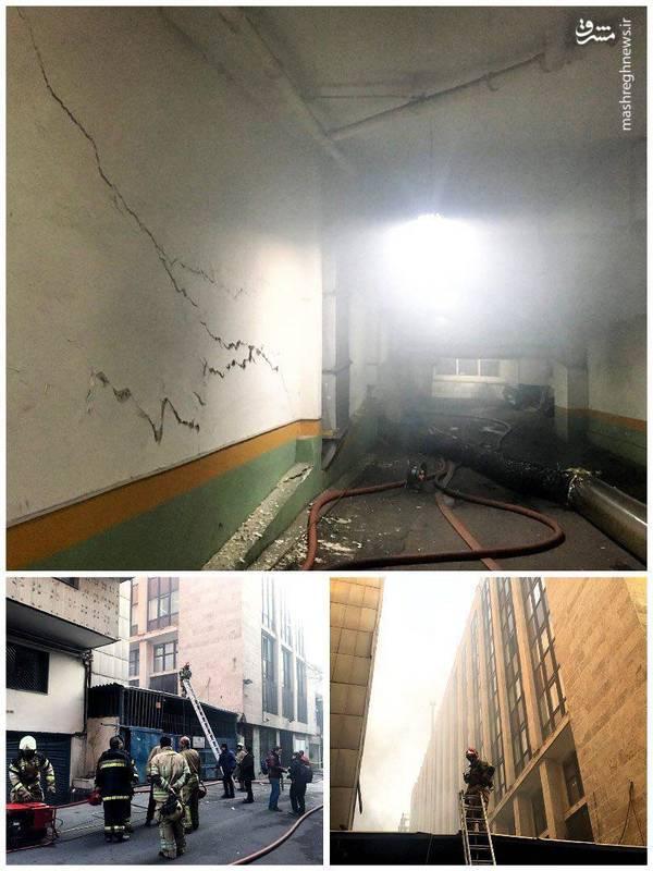 برای حفظ ایمنی، هیچ فردی درون ساختمان نیست