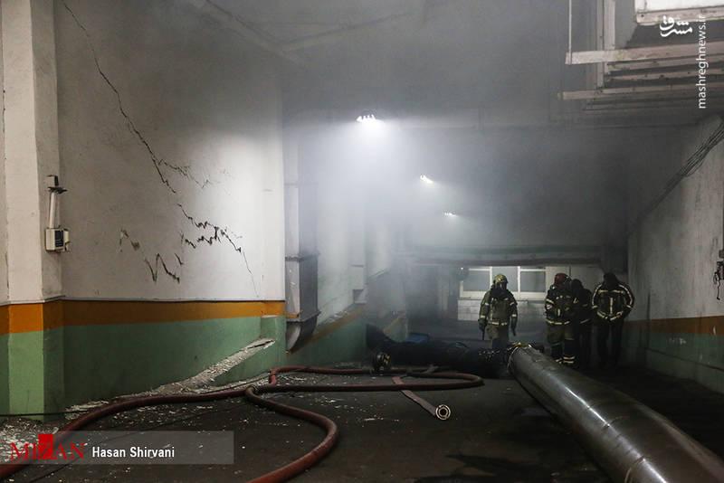 حرارت آتش در طبقه منفی یک ساختمان برق حرارتی وزارت نیرو بالاست