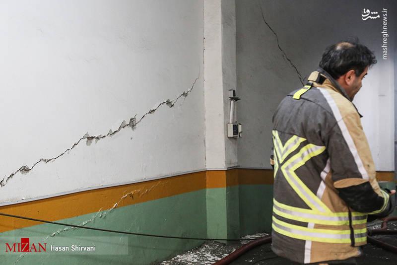 مشکلی که آتش نشانان داشتند آن بود که مرکز آتش سوزی در طبقه منهای چهار بوده و این طبقه عمدتاً به عنوان بایگانی شرکت استفاده میشده است از این رو حجم زیادی اسناد، مدارک و کاغذ در این طبقه انباشه شده است.