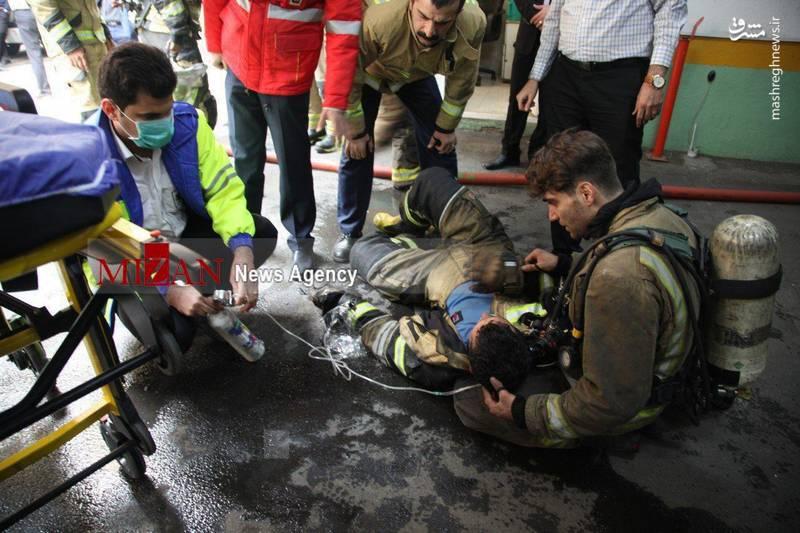 امدادرسانی نیروی اورژانس به مامور آتش نشانی