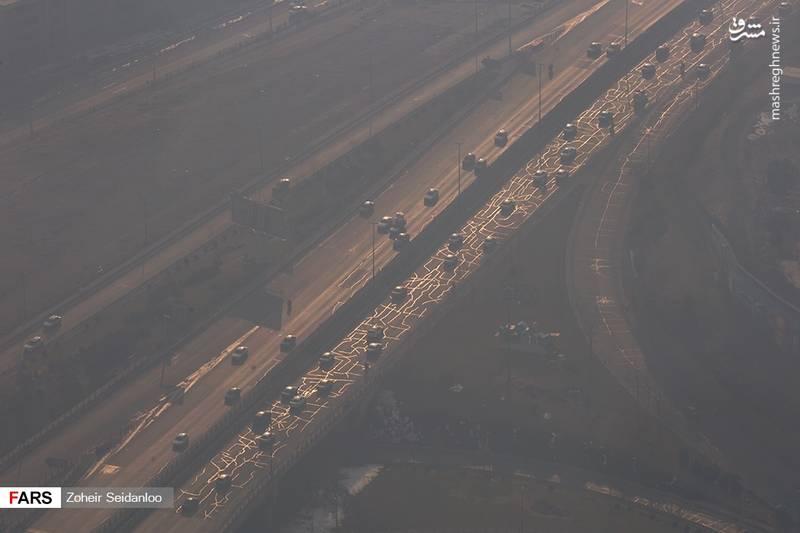 آلودگی شدید هوای پایتخت در ۱۷ بهمن ۹۶