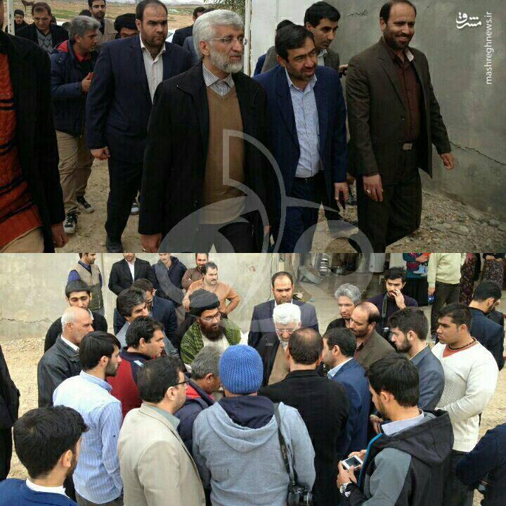 سعید جلیلی در بین مردم زلزله زده کرمانشاه