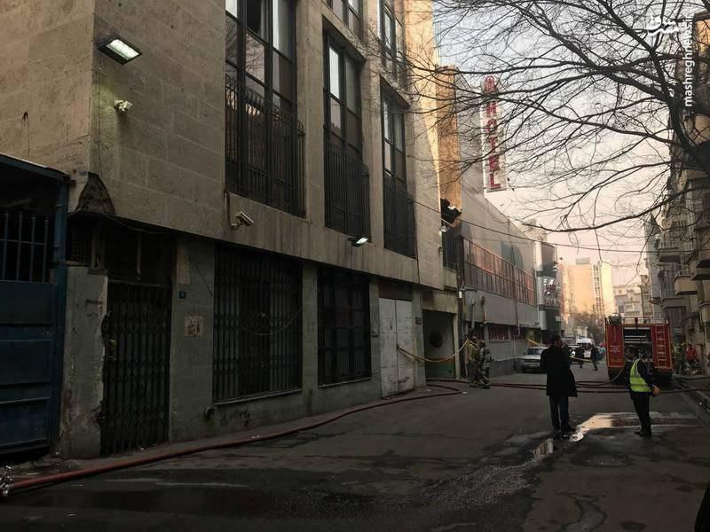 وضعیت ساختمان برق حرارتی وزارت نیرو پس از اطفاء جریق