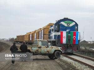 عکس/ ورود نخستین قطار باری اروپا به آستارا