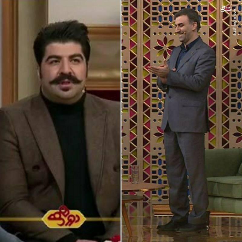 بهنام بانی خواننده و ابراهیم داروغهزاده دبیر جشنواره فیلم فجر