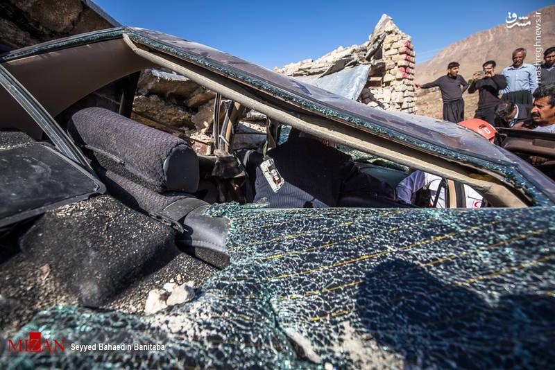 حادثه رانندگی در منطقه زلزله زده سر پل ذهاب