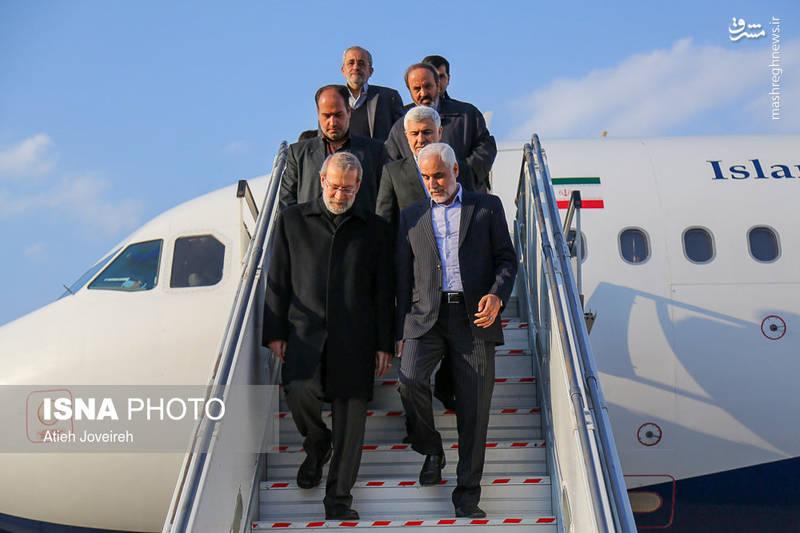 ورود علی لاریجانی به اصفهان