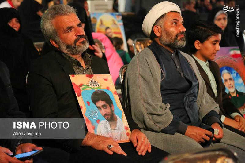 پدر شهید حججی در مراسم شهدای مدافع حرم اصفهان