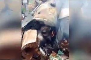 فیلم/ جنگنده سرنگون شده اف16 ارتش اسرائیل