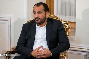 دیدار سخنگوی جنبش انصارالله یمن با ظریف