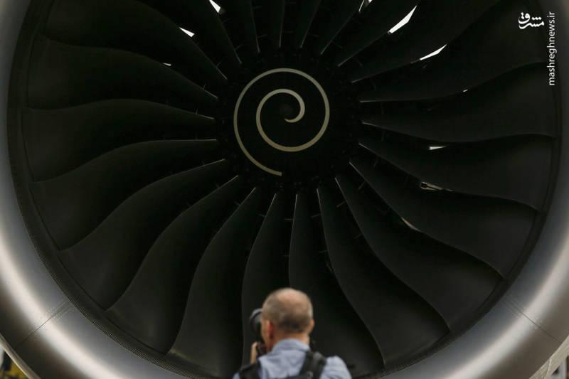 موتور هواپیمای ایرباس A350-1000 در نمایشگاه سنگاپور