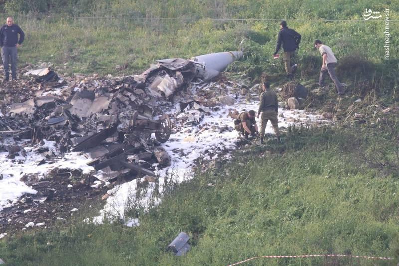 اولین تصویر از لاشه ساقط شده اف 16 رژیم صهیونیستی
