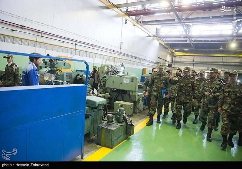 На заводе по ремонту бронетехники сухопутных войск иранской армии